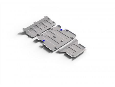 Комплект защит картер+КПП+РК 2.0 АКПП 3 Части
