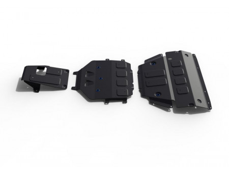 Комплект защит картер+КПП+РК 2.9T 440л.с.; 3.0 340л.с.; 4.0T 550л.с.; Черный