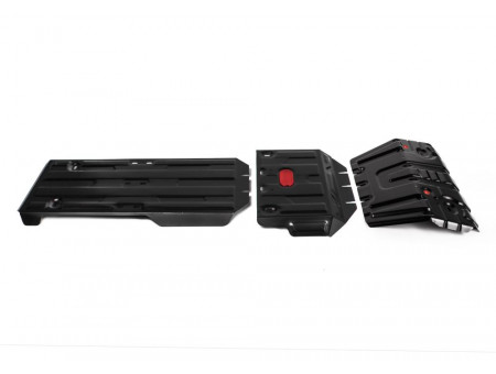 Комплект защит радиатор+картер+КПП+РК 2.7; 2.8d; 4.0