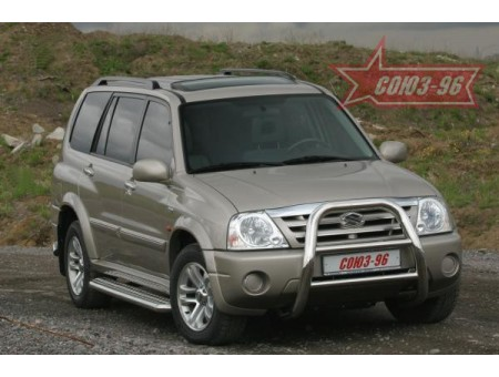 Решётка (кенгурятник) передняя для Suzuki Grand Vitara XL-7 2005-2011гг. (мини d76, высокая)