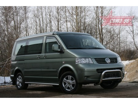 Решётка (кенгурятник) для Volkswagen Multivan California (4x4) 2005г. и по н.в. (мини d60, низкий)